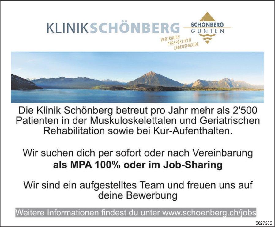 MPA 100% oder im Job-Sharing, Klinik Schönberg, Gunten, gesucht