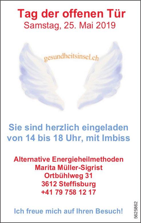 Alternative Energieheilmethoden Marita Müller-Sigrist - Tag der offenen Tür am 25. Mai