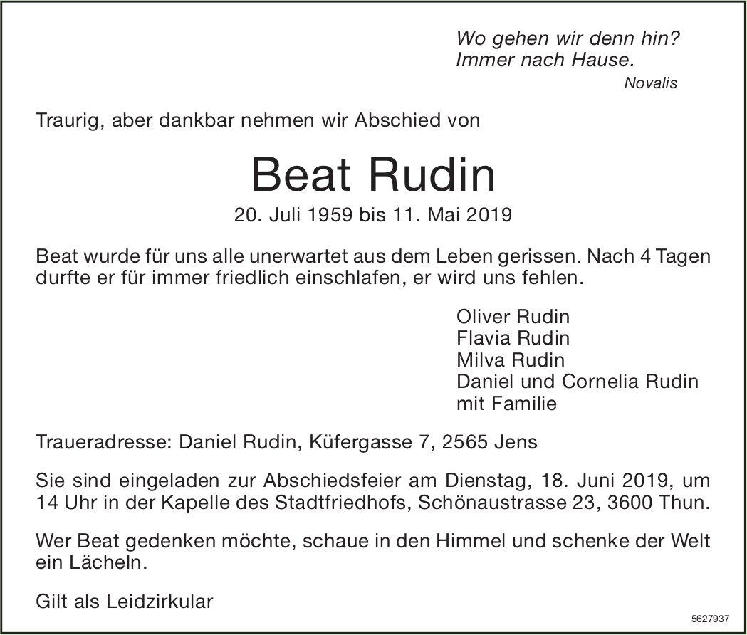 Rudin Beat, Mai 2019 / TA