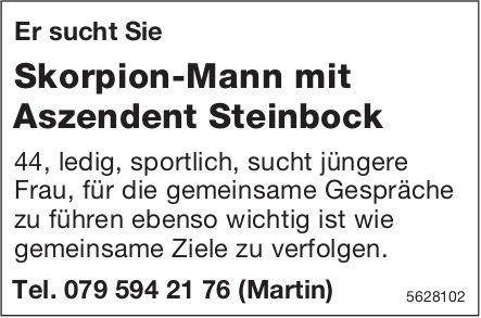 Er sucht Sie Skorpion-Mann mit Aszendent Steinbock