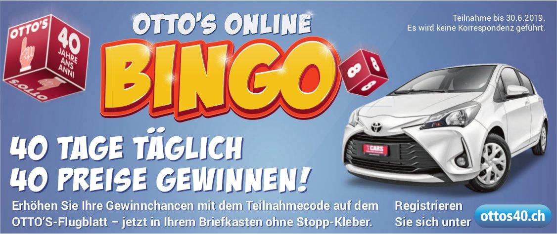 OTTO'S ONLINE BINGO - 40 TAGE TÄGLICH, 40 PREISE GEWINNEN!