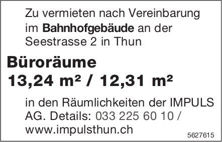 Büroräume 13,24 m² / 12,31 m² im Bahnhofgebäude Thun zu vermieten