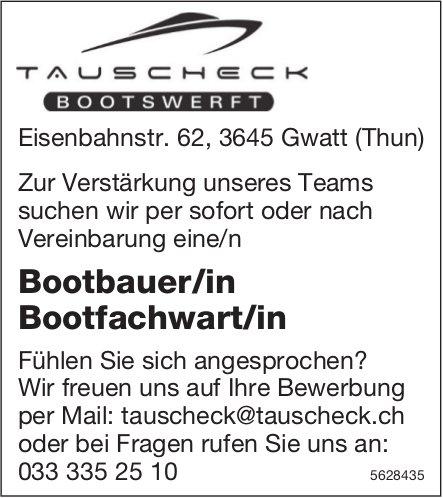 Bootbauer/in Bootfachwart/in, TAUSCHECK BOOTSWERFT, Gwatt/Thun, gesucht