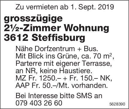 Grosszügige 2½-Zimmer Wohnung in Steffisburg