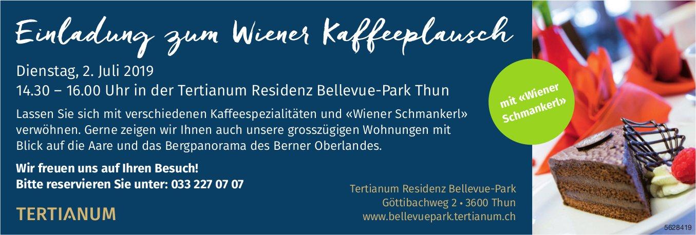 Tertianum Residenz Bellevue-Park - Einladung zum Wiener Kaffeeplausch am 2. Juli