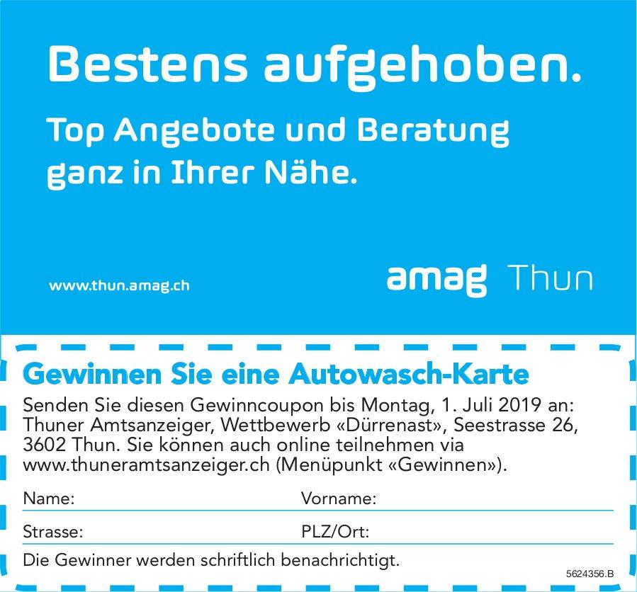 Amag Thun - Top Angebote und Beratung ganz in Ihrer Nähe. Gewinnen Sie eine Autowasch-Karte