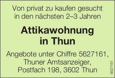 Attikawohnung in Thun zu kaufen gesucht