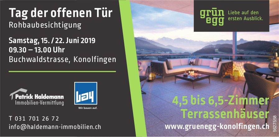 Grünegg Konolfingen - Tag der offenen Tür Rohbaubesichtigung, 15./22. Juni