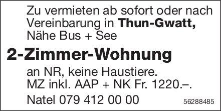 2-Zimmer-Wohnung in Thun-Gwatt zu vermieten