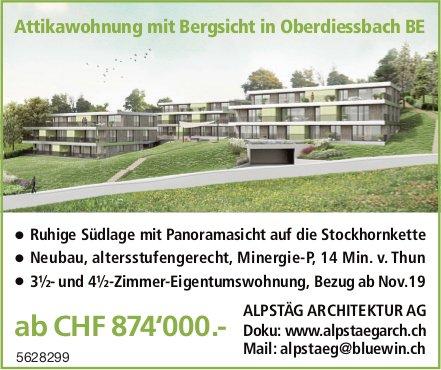 Attikawohnung mit Bergsicht in Oberdiessbach BE zu verkaufen