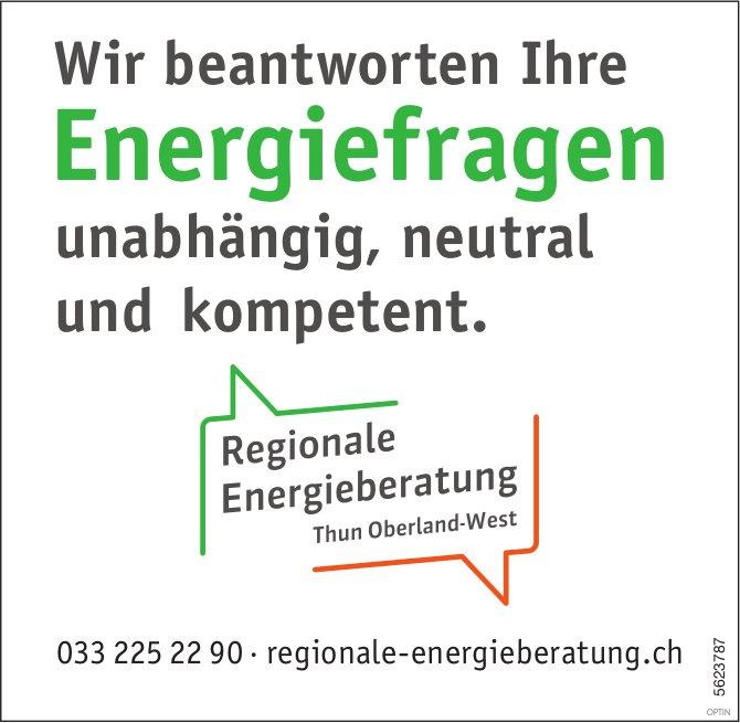 Regionale Energieberatung - Wir beantworten Ihre Energiefragen unabhängig, neutral und kompetent.
