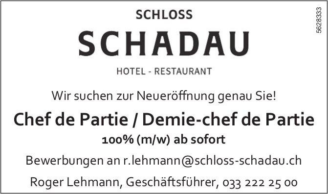 Chef de Partie / Demie-chef de Partie 100%, HOTEL RESTAURANT SCHLOSS SCHADAU, gesucht