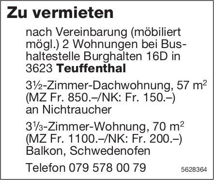 2x 3.5-Zimmer Wohnungen in Teuffenthal zu vermieten