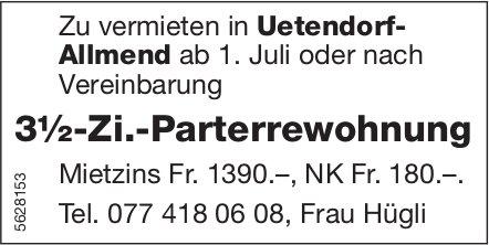 3½-Zi.-Parterrewohnung in Uetendorf-Allmend zu vermieten