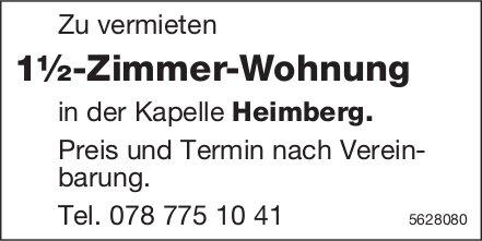 1½-Zimmer-Wohnung in der Kapelle Heimberg zu vermieten