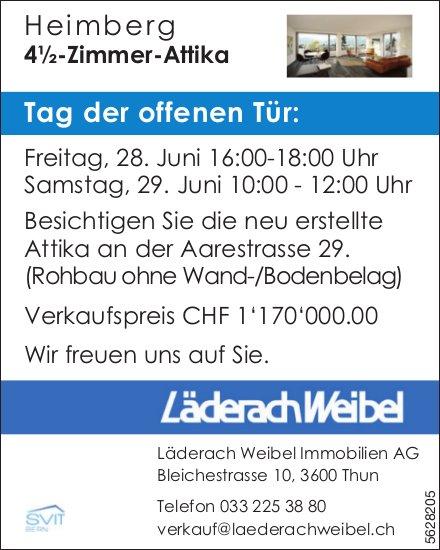 4½-Zimmer-Attika in Heimberg zu verkaufen / Tag der offenen Tür, 28./29. Juni