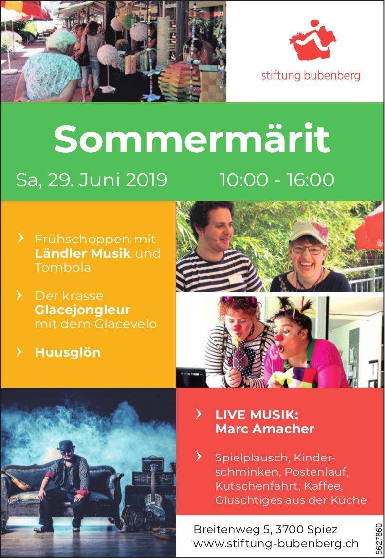 Sommermärit, Stiftung Bubenberg am 29. Juni