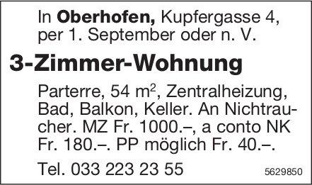 3-Zimmer-Wohnung in Oberhofen zu vermieten