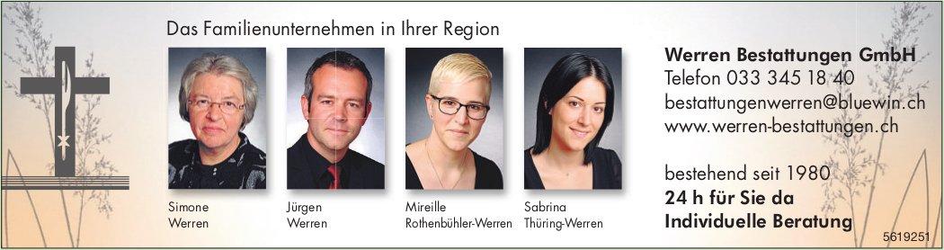 Werren Bestattungen GmbH - Das Familienunternehmen in Ihrer Region