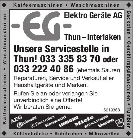 Elektro Geräte AG Thun - Unsere Servicestelle in Thun!