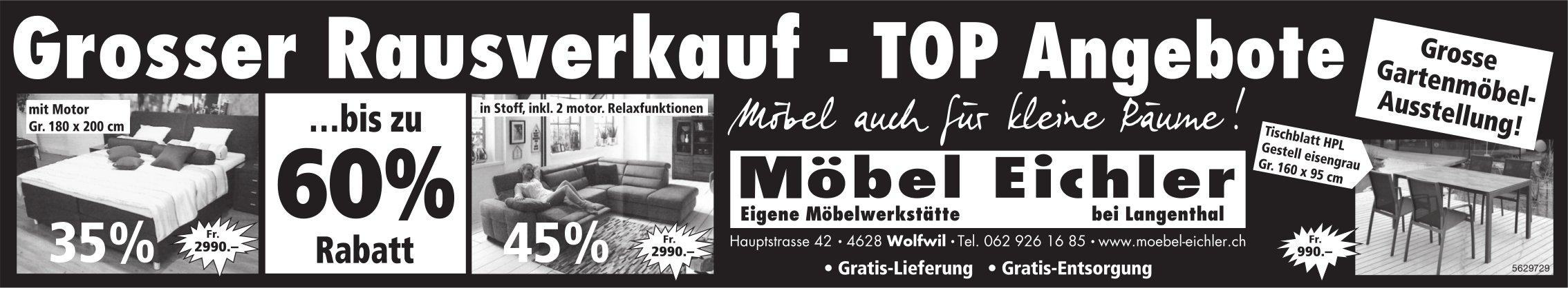 Grosser Rausverkauf, TOP Angebote, Möbel Eichler, Wolfwil