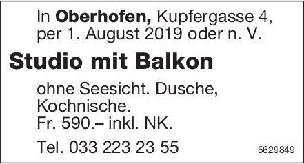 Studio mit Balkon in Oberhofen zu vermieten