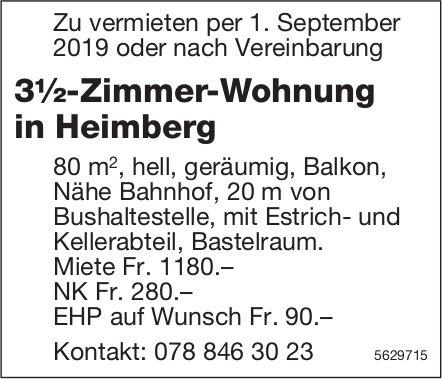3½-Zimmer-Wohnung in Heimberg zu vermieten