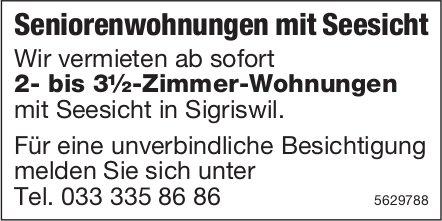 2- bis 3½-Zimmer-Seniorenwohnungen mit Seesicht in Sigriswil zu vermieten
