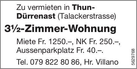 3½-Zimmer-Wohnung in Thun Dürrenast zu vermieten