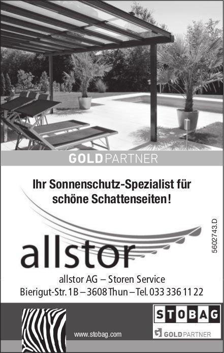 allstor AG – Storen Service - Ihr Sonnenschutz-Spezialist für schöne Schattenseiten!