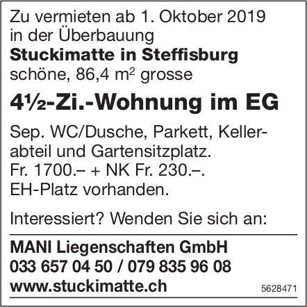 4½-Zi.-Wohnung im EG in der Überbauung Stuckimatte in Steffisburg zu vermieten