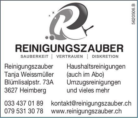 Reinigungszauber Tanja Weissmüller - Haushaltsreinigungen, Umzugsreinigungen und vieles mehr