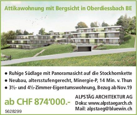 3½- und 4½-Zimmer-Eigentumswohnung in Oberdiessbach zu verkaufen