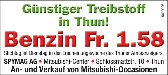 SPYMAG AG - Günstiger Treibstoff in Thun! Benzin Fr. 1.58