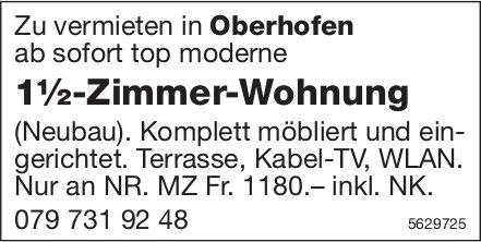 1½-Zimmer-Wohnung in Oberhofen zu vermieten