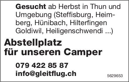 Abstellplatz für unseren Camper ab Herbst in Thun und Umgebung gesucht