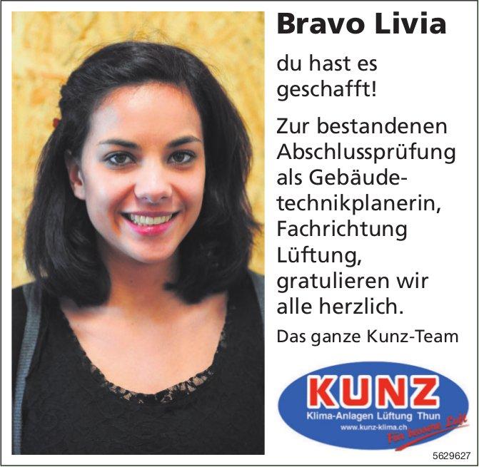 Bravo Livia du hast es geschafft!