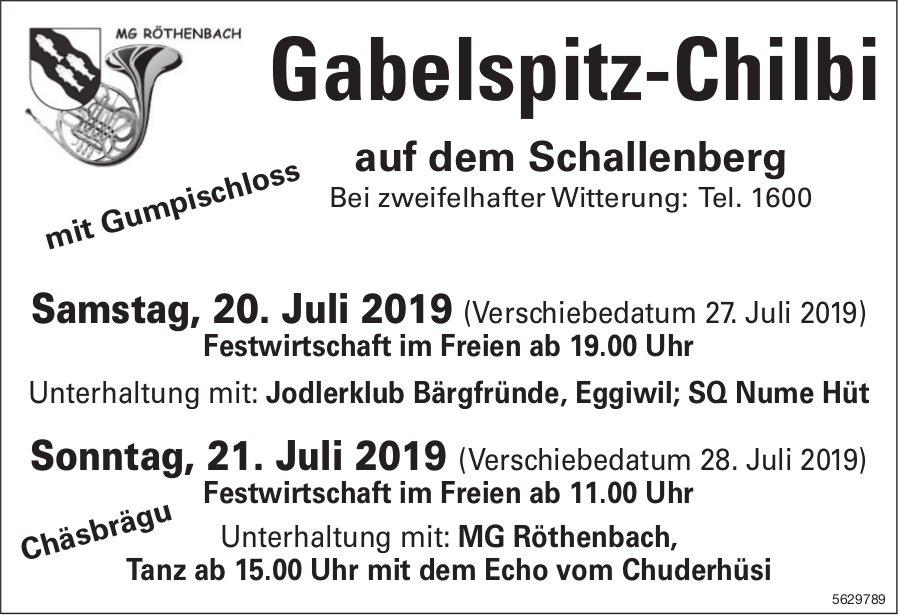 MG RÖTHENBACH - Gabelspitz-Chilbi auf dem Schallenberg, 20.+ 21. Juli
