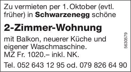 2-Zimmer-Wohnung in Schwarzenegg zu vermieten