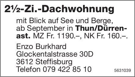 2½-Zi.-Dachwohnung in Thun/Dürrenast zu vermieten