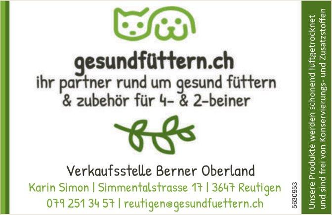 gesundfüttern.ch - Ihr Partner rund um Gesund Füttern & Zubehör für 4- & 2-Beiner