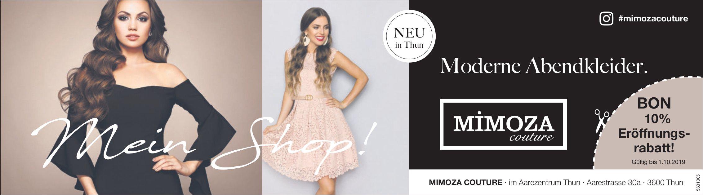 MIMOZA COUTURE, Aarezentrum Thun - Moderne Abendkleider