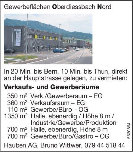 Verkaufs- und Gewerberäume, Oberdiessbach Nord, zu vermieten