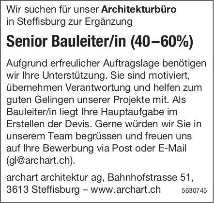 Senior Bauleiter/in (40–60%) bei Archart Architektur AG gesucht