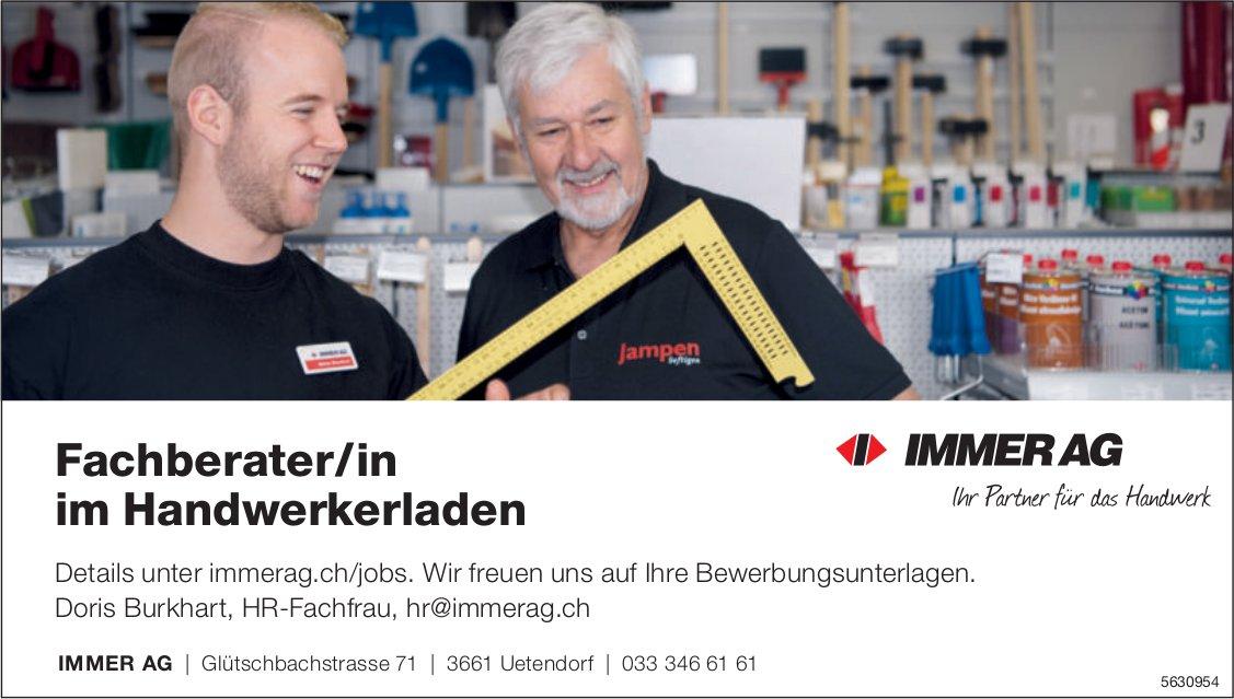 Fachberater/in im Handwerkerladen bei IMMER AG gesucht