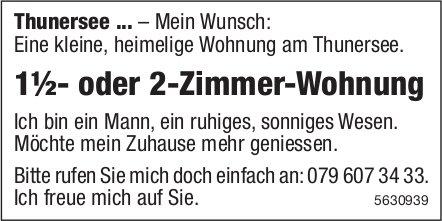 1½- oder 2-Zimmer-Wohnung am Thunersee gesucht