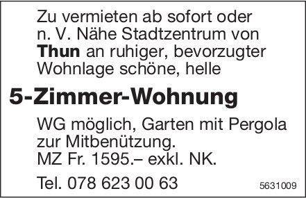 5-Zimmer-Wohnung Nähe Stadtzentrum von Thun zu vermieten