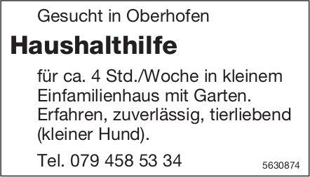Haushalthilfe für ca. 4 Std./Woche in Oberhofen gesucht