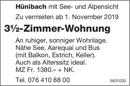 3½-Zimmer-Wohnung in Hünibach mit See- und Alpensicht zu vermieten