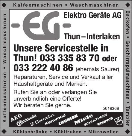 Elektro Geräte AG, Thun/Interlaken
